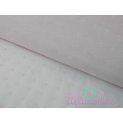 Jacquard rosa pálido con topo blanco