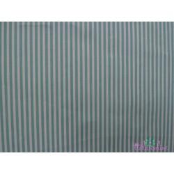 Tela de  algodón rayitas verde agua