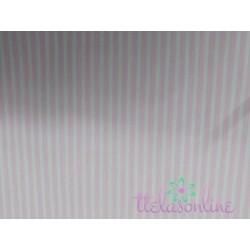 Tela de  algodón rayas en rosa  bebe