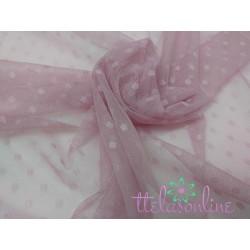 Tul plumeti suave en rosa viejo