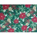 Tela de  algodón estampado navideño flor de Pascua