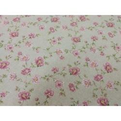 Tela de  algodón flores rosas