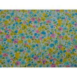 Flores tipo liberty, amarillo, turquesa, rosa