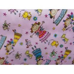 Tela de haditas, fondo rosa