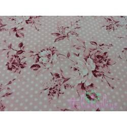 Villela flores, fondo rosa